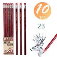 Kalemler 10 adet Sihirli Kroki Kalem Ahşap Kurşun 2B Silgi Çocuk Ile Çizim Hediye Okul Yazma Malzemeleri1
