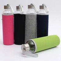 زجاج زجاجة ماء BPA مجانية عالية مقاومة درجات الحرارة الزجاج الرياضة زجاجة المياه مع تصفية الشاي infuser زجاجة النايلون كم LLS591