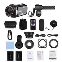 كاميرات الفيديو ordro HDV-AE8 4K WiFi كاميرا فيديو رقمية كاميرا فيديو DV مسجل 30MP 16X Zoom IR للرؤية الليلية 3 بوصة IPS LCD Touchs