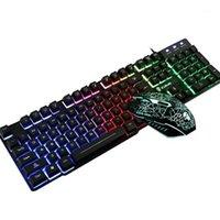 Keyboard Souris Combos de jeu coloré Boutons multiples Kit de pavé pour PC Laptop1