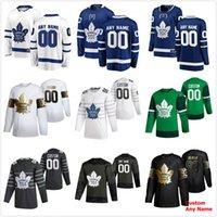 2020 Toronto Maple Leafs St. Patrick's Dia Hóquei Jerseys 73 Kyle Cliffford Jerseys Auston Matthews Mitchell Marner Tavares Costume Costume