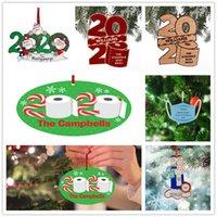 2020 Рождественские украшения Персонализированные туалетной бумаги с талреп дерева украшения Деревянные Подвесной Новый год Home Decor сувениры партии E92402