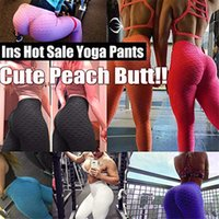 11 Colori Donne Pantaloni Yoga Hot Yoga Bianco Leggings Sport Push Up Tights Gym Esercizio Aspetto Fitness Alto Fitness Atletico Pantaloni atletici