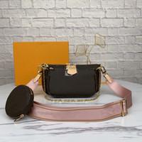 2021 Donne preferite Luxurys Genuine Pelle Designers Moda Borse di moda Multi Borse Borse Mini Pochette 3pcs Borse a tracolla a tracolla
