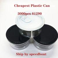 가장 저렴한 가격 3.5grams 플라스틱 캔 머신 인감 알루미늄 커버 100ml 건조한 허브 담배 포장 항아리 사용자 정의 레이블 환영 밀폐 캔