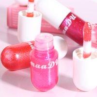 Cmaadu 섹시한 액체 립스틱 머메이드 립글로스 반짝이 다이아몬드 진주 보습 3D 크리스탈 젤리 메이크업