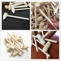 Mini Ahşap Çekiç Ahşap Deniz Mahsülleri Istakoz Yengeç Kabuk Deri El Sanatları Takı El Sanatları Dollhouse Oyun Evi Supplie