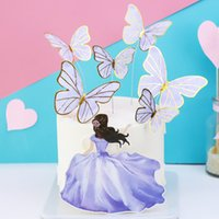 Purple Beauty Butterfly a forma di decorazione della sera festa decorata da sposa decorata da cottura Plug In Unità Nuovo Arrivo 0 88BD J2