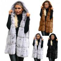 Elegante casaco de pele faiola inverno mulheres 2018 nova moda casual quente magro slim sem mangas veste colete de inverno casaco de inverno sobretudo outerwear11