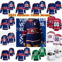 Montreal Canadiens 2021 Reverse Retrô Hóquei Jerseys 31 Carey Preço 14 Nick Suzuki Guy Lafleur Brendan Gallagher Shea Weber Costume Costume