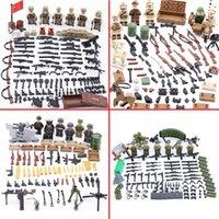 Soldados do Exército Figuras Arma Militar Building Blocks Soviética União Soldados do Exército Figuras Armas Armas Peças Brinquedos Brinquedos LJ200928