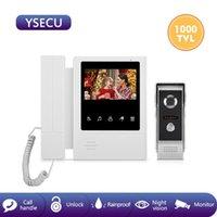 Video-Door-Telefone YSECU 4,3 Zoll Kabelgebundenes Telefonsystem Visuelle Gegensprechanlage Türklingel mit Outdoor-Kamera für Haussicherheit