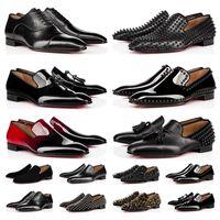 أعلى جودة 2021 الأحمر قيعان الرجال النساء اللباس أحذية المسامير أحذية رياضية من جلد الغزال أحمر أسود أبيض جلد مصمم رجالي المدربين المتسكعون الفاخرة