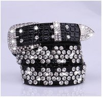 Dinisiton 새로운 브랜드 새로운 패션 여성 가죽 벨트 여성 다이아몬드 드릴 넓은 벨트 라인 석 벨트 cin jllkba