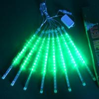 Meteor Duş Lambası 8 Dize Doğum Günü Partisi Dekorasyon Işık Kiti LED Işıkları Ağacı Su Geçerleri Noel Günü Sarı Popüler 40HX L2