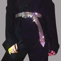 ZEBERY Femmes Brillant Ceinture taille chaîne cristal de diamant strass luxe pleine ceinture large chaîne complète strass Baudrier