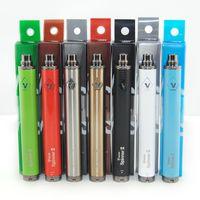 MOQ 5pcs Vision Spinner 2 II 1600MAH Twist Vision2 Batterie E Cigs Ciguelles électroniques Ego Atomizer Clearomizer Coloré Détail Forfait DHL