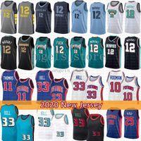 Grant 33 Hill Ja 12 Morant Basketball Jersey Isiah 11 Thomas Dennis 10 Rodman Derrick 25 Rose Jerseys