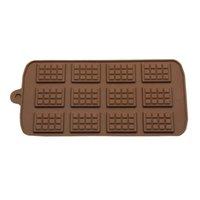 새로운 식사 실리콘 몰드 12 심지어 초콜릿 몰드 퐁당 몰드 DIY 사탕 바 금형 케이크 장식 도구 주방 베이킹 액세서리 W108