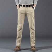 Spring Summer Autumn New Casual Pants Men Cotton Slim Fit Ch...
