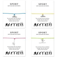 Charm Bracelets I Heart Gymnastics Ajustable para mujeres Men Girls Regalo con tarjeta 1