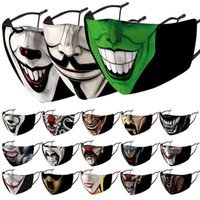 maschera faccia pagliaccio progettista maschere facciali modo stampati classico maschera nero antipolvere antivento e foschia sostituibile PM2.5 maschera lavaggio filtro