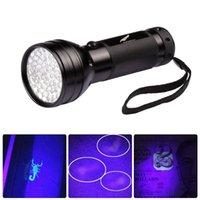 395nm 51 LED UV torcia ultravioletta LED LED Blacklight Torch Lighting Lighting Lampada in alluminio Shell Ultraviolet Light