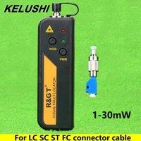 Kelushi 1 / 10 / 20 / 30mW 시각적 인 결함 위치기 광섬유 케이블 테스터 LC / FC / SC / ST 어댑터 적색 광원 테스트 오류 감지기 1-301