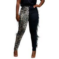 Повседневный Leopard Printed женские брюки с кисточкой Дизайнер Дамы Capris Мода Щитовые Тощий Женская теплая одежда
