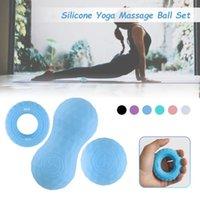 3 pcs lacrosse miofascia bola amendoim massagem bola alta densidade luz aptidão corpo fáscia exercício aliviar a dor ioga