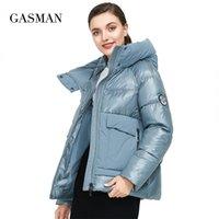 Gasman марки осень зима мода женщин парку пуховик с капюшоном пэчворк толстого пальто женское теплые одежды куртка для одежды новый 001 210203
