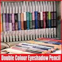 47 الألوان الجديدة الوجه ماكياج القلم مزدوجة لون عينيه كحل قلم رصاص قلم تمييز 2 في 1 ظلال العيون المكياج