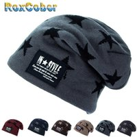 Skullies Beanies Knitted wool winter Warm Hats For Mens plus...