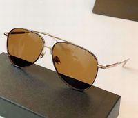 0078 ذهب بني الرجال الطيار النظارات الشمسية 59MM Sonnenbrille رجل نظارات الشمس نظارات في الهواء الطلق أعلى جودة جديد في المربع