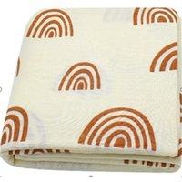 120x120 cm Arcobaleno Bambù Bambù Bambino Bambino Soft Muslin Swaddle Blanket Swaddle Set Neonato W1218