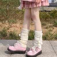 Calcetines Hosiery Sweet Girl Wool Bola Hecha de Pie Hecha Pie Mujer Otoño Invierno Pierna Calentador Japonés Estilo Montón