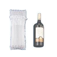 7 الأعمدة 32 سنتيمتر ارتفاع pe الهواء dunnage حقيبة الهواء مملوءة واقية زجاجة النبيذ يلتف نفخ وسادة عمود الأكياس التفاف مع مضخة مجانية