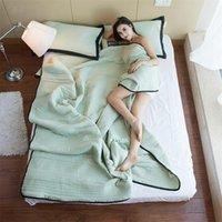 Twin King Queen-Size-Sommer-Sommer-Steppdecke-Bettdecke-Decke-Bettdecke Bettbezug Quilting Einfache Heimtextile Bettwäsche 201106