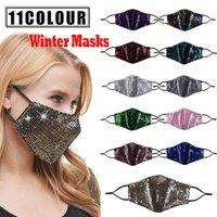 Bling Bling Блестка Велоспорт Защитной маска РМ2,5 пыл рот Маска моющихся многоразовые Женщины маска для лица