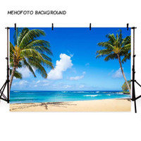 MEHOFOTO sfondo per Fotografia Summer Beach Background per Photo Booth stampa Palma Scenografia