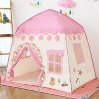 Crianças Jogar Tent Crianças Indoor Princesa Princesa Castelo Dobrável Cubby Brinquedos Encfant Room House Beach tenda Teepee Playhouse LJ200923
