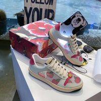 최고 품질 남성 여성 신발 운동화 Donna in Pelle Scamosciata Parigi Dei Pattini Della Piattaforma Patchwork Sneakers home011 06