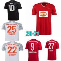 لاعب Version2020 2021 Sane Soccer Jerseys 7 Gnabry Muller Home Thouse 3rd Soccer Jersey 20 21 Lewandowski Hernandez Davies Football
