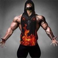 الصيف أكمام الرجال جمن رياضة قميص كمال الاجسام اللياقة البدنية العضلات هوديي صدرية هود القميص قميص ديترويت تصبح ملابس Y200106