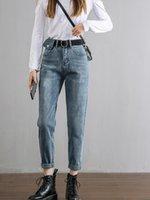 pantalones vaqueros de cintura alta de nabo mujeres de la vendimia recta novio Mom Jeans Mujer retro Pantalones vaqueros 2020 Azul Negro Casuas
