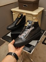 Giuseppe Zanotti GZ de corte de bajo corte zapatos para hombres para hombres zapatillas de deporte de cuero fiesta zapatos de lujo zapatos deportivos al aire libre Szie 38-44
