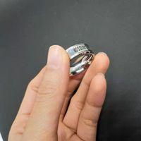 316L التيتانيوم الصلب الأوروبية والأمريكية الأزياء الدائري النساء الرجال لا تتلاشى الفولاذ المقاوم للصدأ مصقول هارلي دراجة نارية مجوهرات حلقة الحجم 7-1