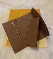 2020 Portefeuille femmes Wallet Sac Zipper Femme Designer Wallet Porte-carte Porte-Mode Long Pocket Femmes Sac avec boîte de certificat sac à poussière
