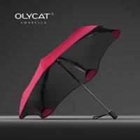 Новый складной зонт дождь женщины творческий солнцезащитная защита детей зонтик ветрозащитный 6к алюминиевый зонтик прозрачный зонт UPF50 + T200117