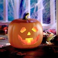 Halloween lustiges reden animierte Kürbis eingebaute Projektor-Lautsprecher 3-in-1-Laterne Kürbis-Party-Dekoration LED-String-Lights 201027
